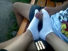 socks outdoors