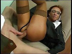 uniform handjob