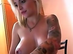 blonde russian milf gets oil massage then fucked