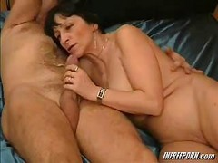amateur mature wife blowjob swallow