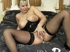 german blonde masturbates