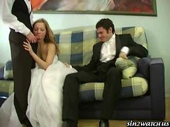 a bride gets fucked by stra