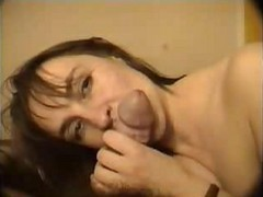 massive cumshot surprise with swallow